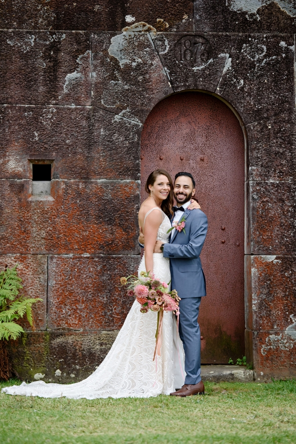 Polly and Christos' romantic wedding at Gunners Barracks